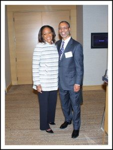Adrienne White, Faines President AOA and Kevin Lofton
